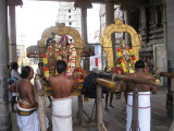 5-Sri RamAnusan and Kesva PerumAL procedding for ThiruvADip PURam puRappADu.jpg