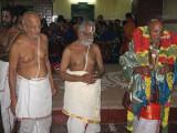 09-with Sri Parthasarathy sannidhi adhyapakas Sri Ramanujam svami, Sri Srinivasa Raghavan svami and Sri Varadanarayanan svami