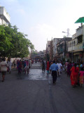 01-Parthasarathy Utsavam.Day 07.Ther.Typical Utsavam - Streets being cleaned and decorated for purappaadu.JPG
