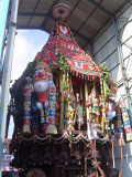 21-Parthasarathy Utsavam.Day 07.Ther.Ther entering its destination.End of Purappaadu.JPG