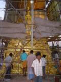 04-Sriperumbudur Samprokshanam 2008.Swami Vimanam.Work in Progress on South side.jpg
