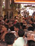 15-Parthasarathy Utsavam.Day 09.Mattai Adi Utsavam.Battar on behalf of Namazhwar pacifying the divine couple.jpg