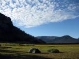 Camp south of Yellowstone, Bridger Lake