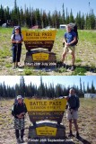 Hiking the Rockies. Battle Pass, Wyoming