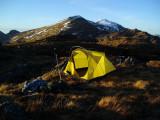 April 10 Creag Ghuanach camp near the Grey Corries, Scotland