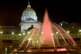 Pink Fountain for Breast Cancer Awareness Month