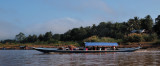 Long boat on the Mekong