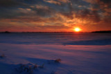 Sunset over Snow Prairie