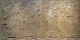 Assyrian Relief: King and Eunuch Attendant