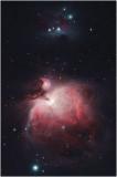 Orion Nebula, M42, and Running Man Nebula, NGC1977