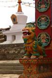 Lion and stupa, Tengboche