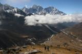 Climbing 5100m (16,732ft) Nangkartshang, from Dingboche
