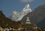 Stupa and Ama Dablam