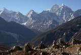 The Memorial Chortens above Duglha