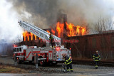 Worcester MA - 3 Alarm fire in a Vacant Mill, Tobias Boland Dr. - March 22, 2010