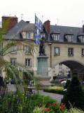 Statue of Joan of Arc in the main square
