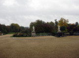 View of the park from inside the chateau