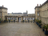 The chateau side of the colonnade