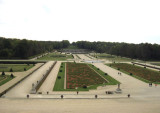 View of garden from the chateau