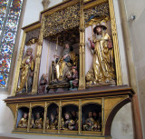 This altarpiece is entirely of wood