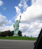 The Statue of Liberty as seen when leaving Colmar