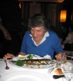 At the Vin et Marée restaurant with Franceline