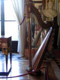 Josephine's harp in the Music Room