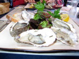 Lunch at restaurant La Marinière- oysters