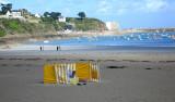 A lone beachcomber