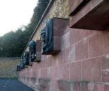 The bronze reliefs