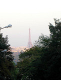 The Eiffel tower as seen from the memorial