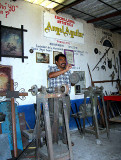Angel Aguilar's cutlery and blacksmith workshop