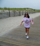 Maria Walking in Lavallette for Breast Cancer