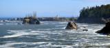 Cape Arago Lighthouse and rugged coast