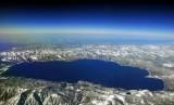 Blue Lake Tahoe at 39,000 feet