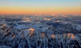 clear evening over Cascades