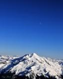 Glacier Peak and the Moon