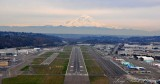 High overcast at Boeing Field