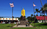 Kamehameha I original statue in Kapaau