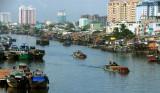 river traffic  in Saigon