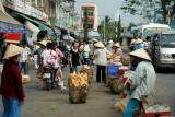 street merchants at My Tho ferry terminal