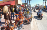 Custom Bikes on Display on Main Street