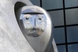 Detail of Rolling Horse - Sculpture by Jürgen Goertz at the Berliner Hauptbahnhof