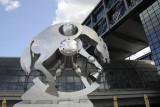 Rolling Horse - Sculpture by Jürgen Goertz at the Berliner Hauptbahnhof