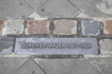 Checkpoint Charlie - Marker Showing Where the Wall Stood