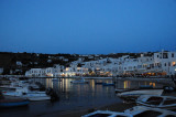 Mykonos port in the early evening