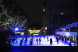 Ice Skating outside the Natural History Museum