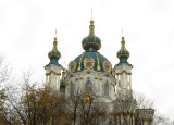 St. Andrew's cathedral seen from Podil