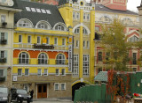 Yellow bank in Podil