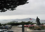 View from the front of  Coit Tower